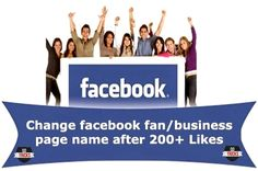 Trick to Change Facebook Page Name Having 200+ Likes