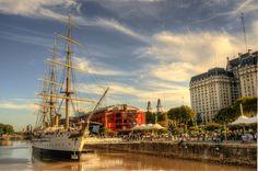 Genial foto HDR de la fragata Sarmiento - Puerto Madero, Bs.As.