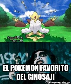 El pokemon favorito de Ginosaji Spoon Assassin by ShidoFuyuki