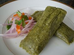Fresh corn, and cilantro leaves are the base of the comforting and delicious tamalitos verdes.