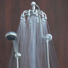 Octo Multi Head Rain Shower   Unique Octo Rain Shower Head Combination features 10 Powerful Jets.