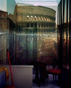 Abelardo Morell | The Coliseum | Inside the room , hotel Gladiatori | 2007 Camera Obscura, At The Hotel, One Pic, Rome, Photographers, Pictures, Image, Fotografia, Photos