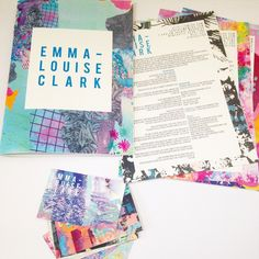 http://emlou.com promo pack textiles portfolio design CV