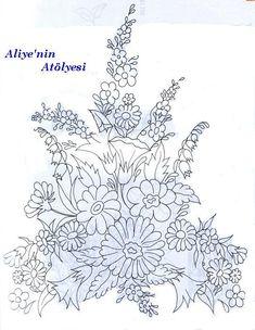 Silk ribbon embroidery pattern