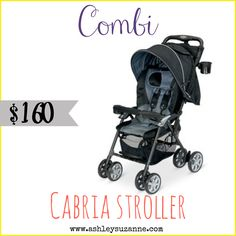 The Combi Cabria was included in Ashley Suzanne's New Beginnings Baby Gift Guide for 2014! http://www.ashleysuzanne.com/combi-usa-cabria-2014-new-beginnings-baby-gift-guide/