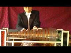 Do you now the name of this instrument? Mozart composed this Adagio for it . Because its sounding portion is made of glass, the GLASS HARMONICA  is a crystallophone.