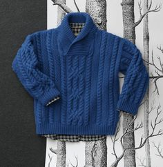 Ravelry: Pull pattern by Phildar Design Team Knitting Patterns Boys, Baby Sweater Knitting Pattern, Knit Baby Sweaters, Boys Sweaters, Pullover Design, Sweater Design, How To Start Knitting, Knitting For Kids, Free Knitting