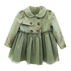Penelope Green Vintage Floral Trench Coat