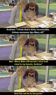 """When Andrew cracked the topping of his meringue, Mel made this poignant vow. 