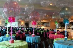 Multi Colored Sparkle Balloons - BAT MITZVAHS