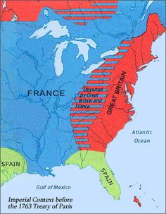 The area claimed by both Britain and France was what the French and Indian War was fought over. Study History, History Class, Us History, History Facts, Family History, Canadian History, American History, 5th Grade Activities, Kid Activities