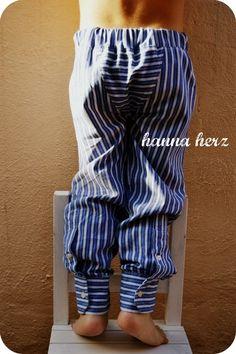 Hose aus Hemd – von http://hanna-herz.blogspot.com.es/2012/03/tutorial-upcycling-herrenhemd.html (mit Anleitung, danke!)