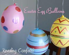 Ballonnen als Paaseieren. Leuk om te schilderen. Ballonnen zijn te bestellen via onderstaande link. http://www.ballonartikelen.nl