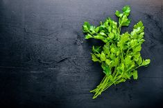 Find Fresh Parsley On Black Wooden Background stock images in HD and millions of other royalty-free stock photos, illustrations and vectors in the Shutterstock collection. Parsley Tea, Kidney Stones, Calories, Vitamins And Minerals, Wooden Background, Pilates, Planting Flowers, Herbs, Nutrition