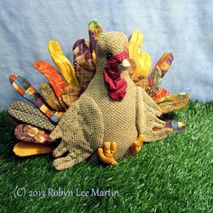 Primitive Turkey Doll Soft Sculpture Fall Decor by MotherlodeToad, $28.00