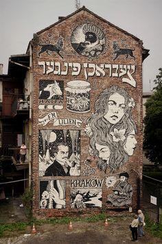 broken fingaz graffiti street art illustration israel poland jewish krakow lilien