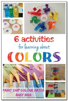6 fun and playful activities for learning about colors that include color matching and color mixing activities for kids as young as toddlers and as old as early elementary school #handsonlearning #ece #kbn || Gift of Curiosity