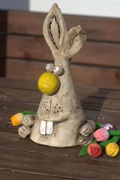 Easter greetings from the pottery Ostergrüße aus der Töpferwerkstatt Easter greetings from the pottery workshop – dream bubbles - Clay Crafts For Kids, Crafts To Sell, Arts And Crafts, Diy Crafts, Recycled Crafts, Bunny Crafts, Ceramic Animals, Ceramic Art, Pottery Workshop