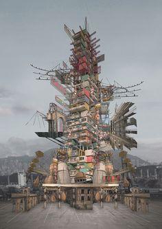 design - kelvin ip imagines dystopian, factional hong kong in last resort Architecture Graphics, Concept Architecture, Architecture Drawings, Hong Kong Architecture, Computer Architecture, Architecture Diagrams, Architecture Portfolio, Landscape Architecture, Photomontage