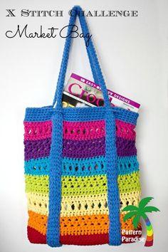 X Stitch Market Bag Tote  PDF15-181 via Craftsy