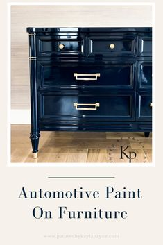 Automotive paint on furniture can be a great option if you're looking for an ultra high gloss coating that dries lightning fast and is hard as nails. # diy furniture painting Automotive Paint On Furniture - Painted by Kayla Payne Refurbished Furniture, Paint Furniture, Repurposed Furniture, Furniture Projects, Furniture Makeover, Furniture Decor, Redoing Furniture, Furniture Design, Furniture Arrangement