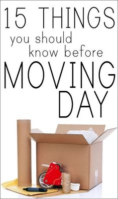 Life Hacks : Moving Day Tips - Moving Day Checklist for your New Home 15 Things You Should Know Before Moving Day. Moving Home, Moving Day, Moving Tips, Moving Hacks, Moving Checklist, Office Moving, Organize Life, Move On Up, Big Move