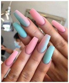 60 Prettiest And Stylish Summer Nail Designs nail art designs colorful nail a . - 60 Prettiest And Stylish Summer Nail Designs nail art designs colorful nail a nails Coffin Nails Matte, Best Acrylic Nails, Gel Nails, Pink Coffin, Nail Nail, Stiletto Nails, Gradient Nails, Top Nail, Marble Nails
