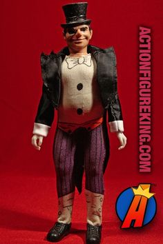 From the Super-Foes collection comes this 8-inch Penguin action figure. Visit ActionFigureKing.com for a huge database of new and vintage toys featuring Marvel and DC Comics. #batman #penguin #megocorporation #mego #actionfigure #gotham