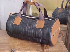 Moto Bag Made From Upcycled Bike Tubes and Leather