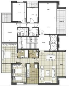 Guest House Plans, Family House Plans, Dream House Plans, 2 Storey House Design, Duplex Design, Modern House Design, Bungalow Floor Plans, Apartment Floor Plans, House Floor Plans
