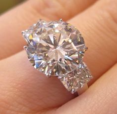 █ 5 65 Ct Round Brilliant Cut 3 Stone Diamond Engagement Ring █ GIA Certified | eBay