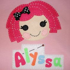 Going to try to make this on a bulletin board with felt pieces to go with Audrey's LaLa Loopsy bedding