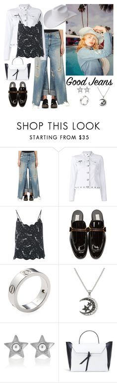 """""""Distressed Cowgirl"""" by christined1960 ❤ liked on Polyvore featuring R13, Philipp Plein, Equipment, STELLA McCARTNEY, Cartier, Marc Jacobs, Alexandra de Curtis, Bailey Western and distresseddenim"""