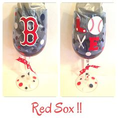 Boston Red Sox Wine Glassglass can be by CreateBeautywithLove, $20.00