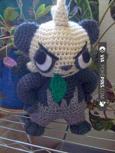 Fantastic! - Pancham Pokemon Pancham - Pokemon Character - Free Amigurumi Pattern here: | Check out more pancham Pokemon FAN WORK AT POKEPINS.COM | #pokemon #gottacatchemall #pancham #electrode #moltres #lileep #delibird #lombre #rufflet #paras #hypno #kadabra #geodude #pikachu #charmander #squirtle #bulbasaur #ferokie #haunter #garydos #roselia #mew #mewtwo #shiny #teamrocket #teammagma #ash #misty #brock