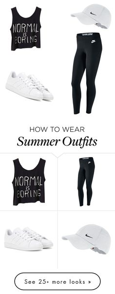 """My First Polyvore Outfit"" by andrea-ogando on Polyvore featuring NIKE and adidas"