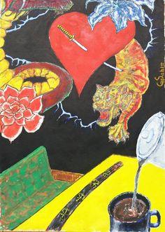 "Saatchi Art Artist George Sabin; Painting, ""oriental break"" #art"