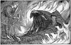 Agnar and geirrod | The Sayings of Grimnir The God in Tormen. Odin in disguised as Grimmnr (the Hooded one.)