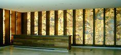 Tämä Onix-paloista koottu seinä näyttää taideteokselta.