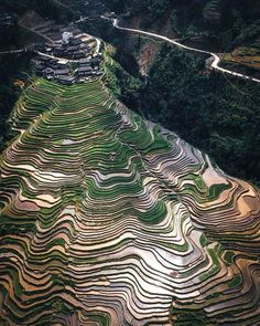 Rice Terraces, Closer To Nature, Beautiful Places To Visit, Amazing Places, Wonderful Places, Aerial Photography, Aerial View, Art And Architecture, Geology