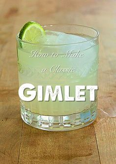 How to make a perfect Gimlet cocktail.