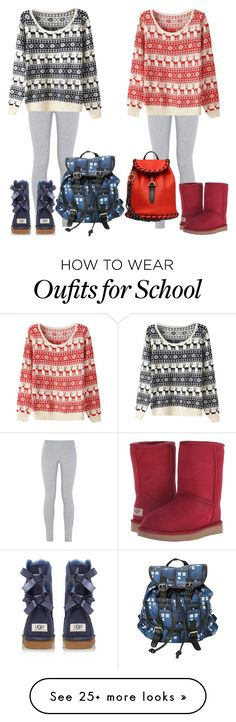 """""""Winter School Day"""" by madison-ashley-0203 on Polyvore featuring NIKE, UGG Australia and Acne Studios"""