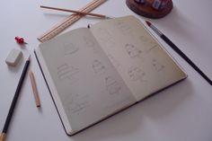 Work in progress Moleskine, Brand Identity, Illustrator, Cupcake, Bakery, Illustration Art, Notebook, Sketch, Behance