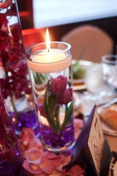 floating candle  | Simple centerpieces that really WOW. You can even make these yourself.
