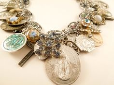 Mary and the Saints Repurposed Vintage Jewelry Charm by Modulation