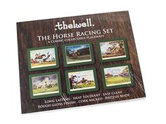 Thelwell Horse Racing Placemat Set. 6 assorted melamine mats with cork backs, featuring the sporting images of iconic cartoonist Norman Thelwell. A great gift for owners, jockey's, trainers and racegoers. Also see Coasters and Serving Mats Thelwell http://www.amazon.co.uk/dp/B01D0487SE/ref=cm_sw_r_pi_dp_n7g7wb19CV4PV