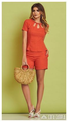 Cute Summer Outfits, Short Outfits, Chic Outfits, Fashion Pants, Fashion Outfits, Womens Fashion, Look Con Short, Robes Vintage, Casual Chic