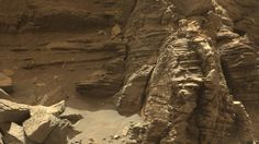 Curiosity got close to this outcrop on Sept. 9, 2016, which displays finely layered rocks. Image Credit: NASA/JPL-Caltech/MSSS