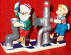 Coca Cola North Pole Bottling Works Maintenance Mischief Elves at the Pipes