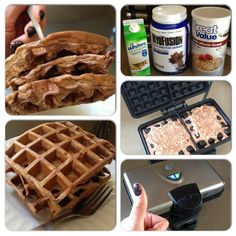 Rachel Michele Ltd. Healthy Breakfasts, Healthy Dessert Recipes, Healthy Snacks, Snack Recipes, Healthy Dishes, Easy Recipes, Desserts, Protein Waffles, Protein Snacks